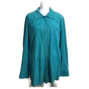 Marina Rinaldi By Max Mara Jacket XL 27 Suede Coat